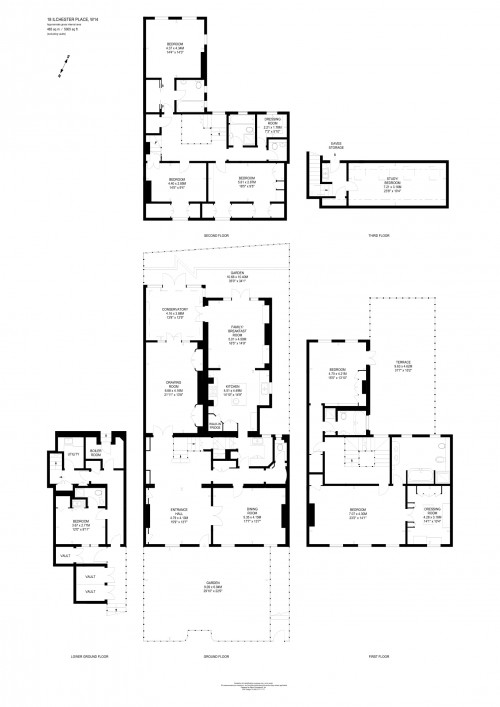 Floorplans For Ilchester Place, London