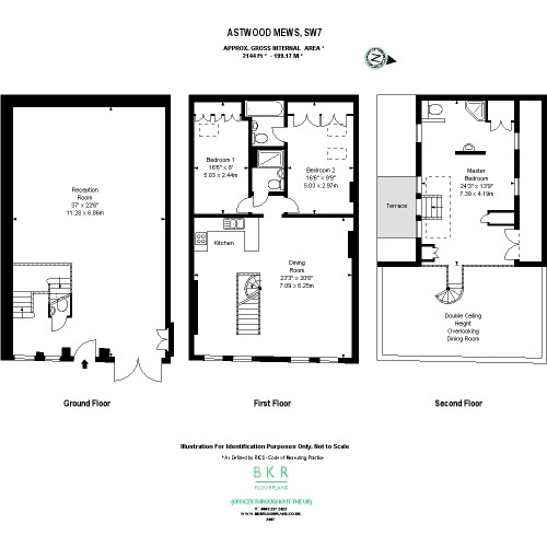 Floorplans For Astwood Mews, London