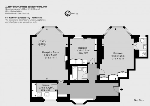 Floorplans For Kensington Gore, London