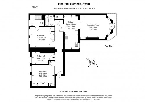 Floorplans For Elm Park Gardens, South Kensington
