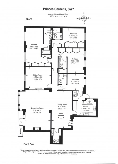 Floorplans For Princes Gate, Knightsbridge
