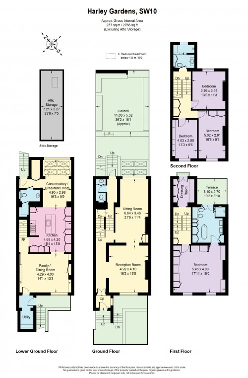 Floorplans For Harley Gardens, Chelsea