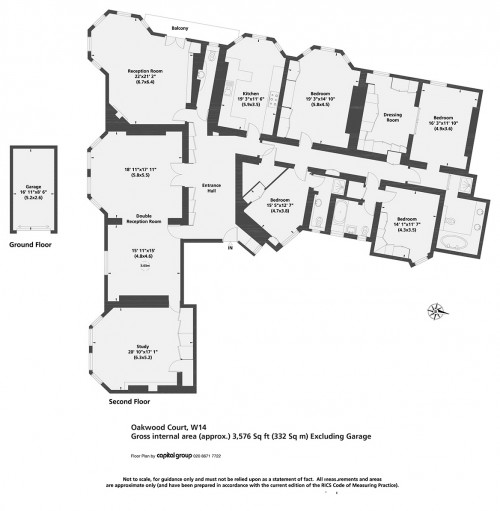 Floorplans For Oakwood Court, Holland Park