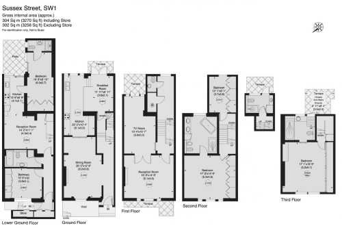 Floorplans For Sussex Street, SW1